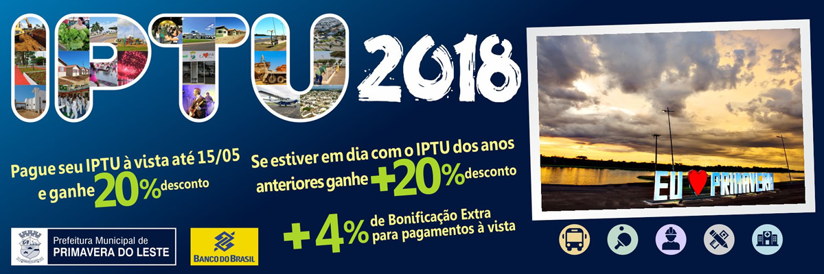 Iptu 2018 - Primavera do Leste